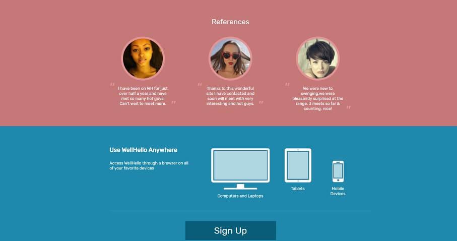 Screenshot der Wellhello-Dating-Website