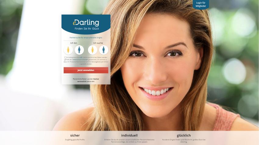 eDarling Screenshot, lächelnde Frau