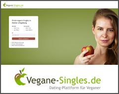vegane singles landing page