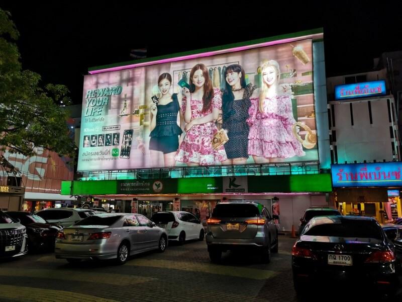 Blackpink K-pop Girlgroup Plakat in Bangkok
