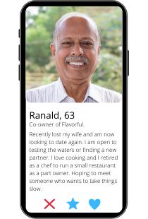 Dating-Profil Beispiel von Ranald auf einem Smartphone