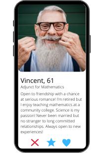 Dating-Profil Beispiel von Vincent auf einem Smartphone