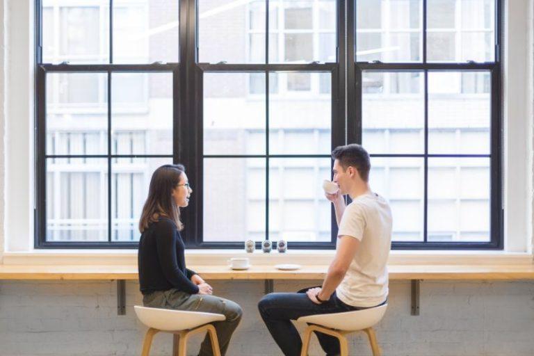christliches Paar auf dem ersten Date