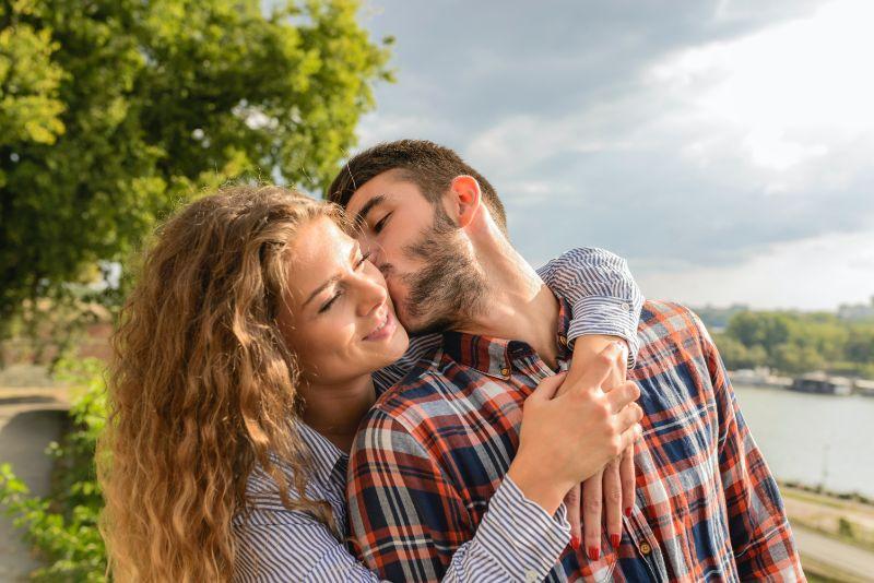 Glückliches christliches Paar